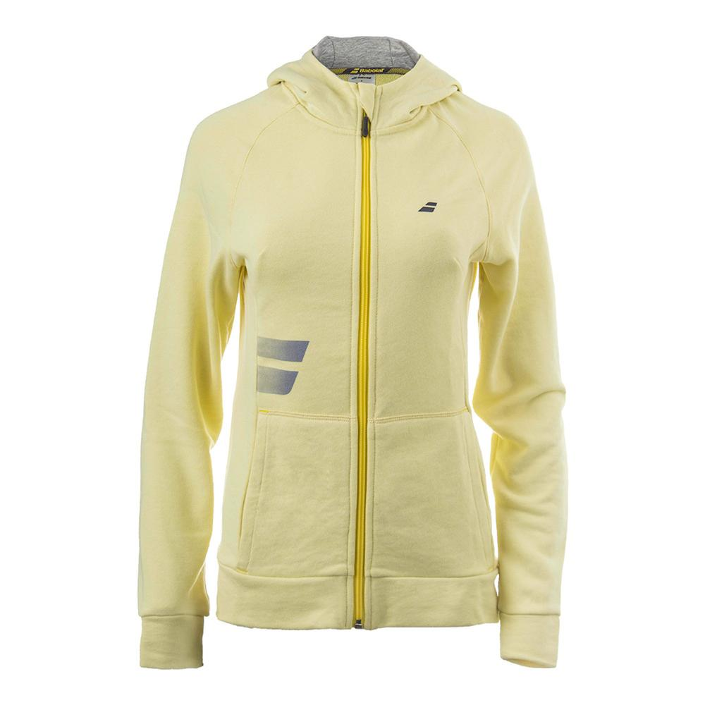 Women's Core Hood Tennis Sweat Lime Washed