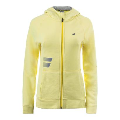 Girls` Core Hood Tennis Sweat Lime Washed