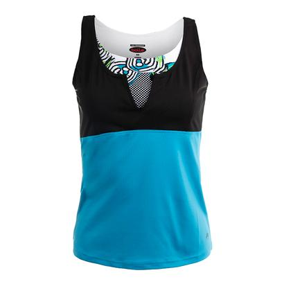 Women`s Bella Tennis Tank Vivid Blue and Black