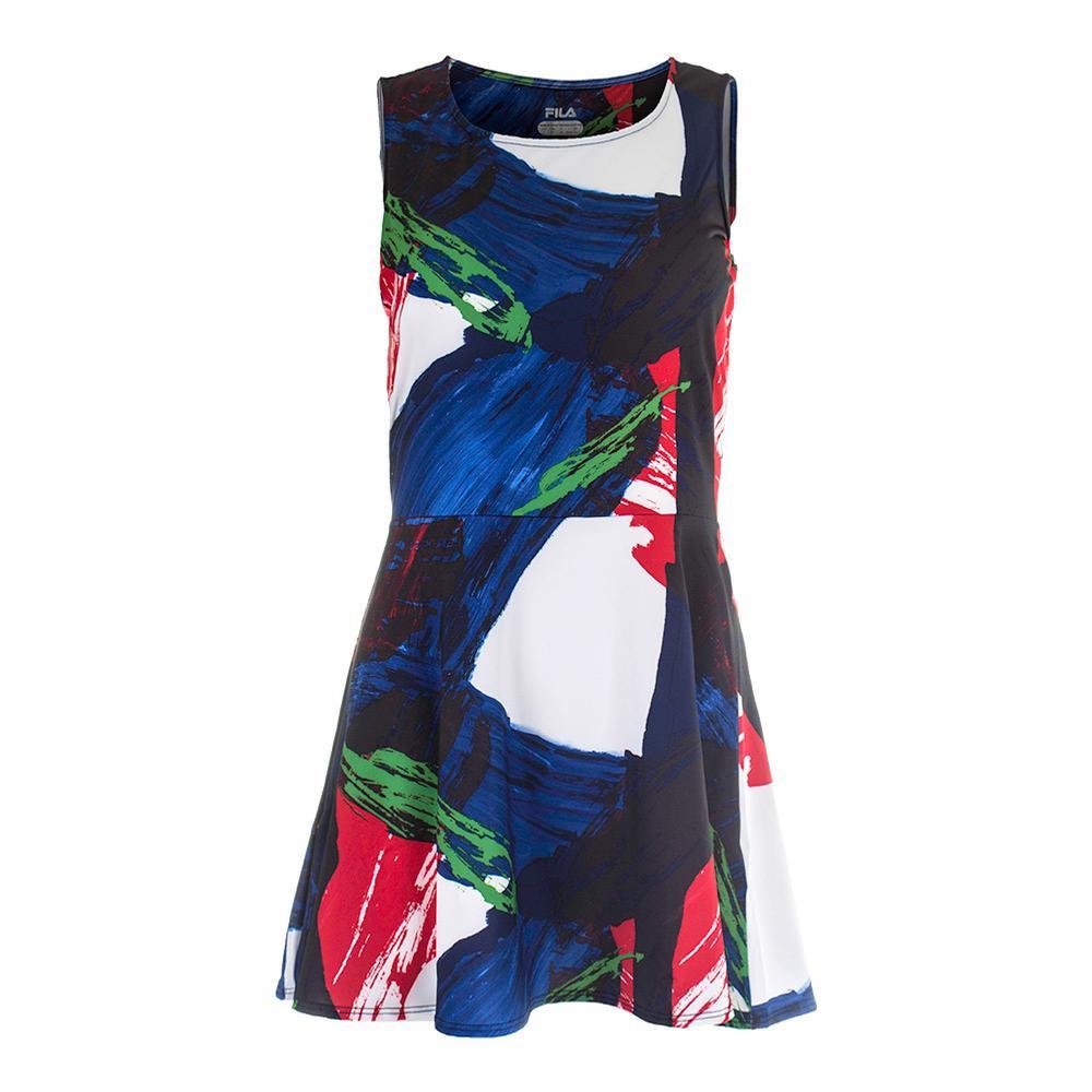 Women's Heritage Printed Tennis Dress Riviera