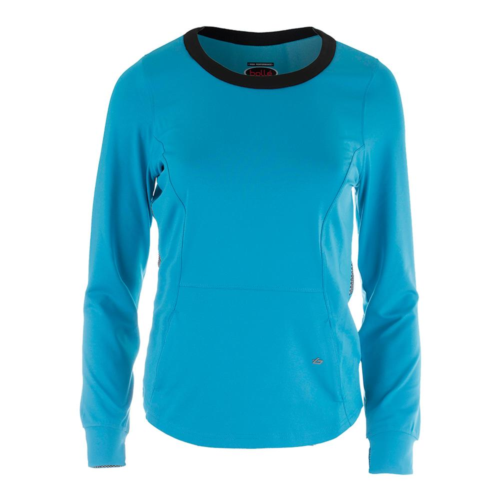 Women's Bella Long Sleeve Tennis Top Vivid Blue