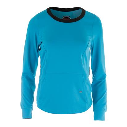 Women`s Bella Long Sleeve Tennis Top Vivid Blue
