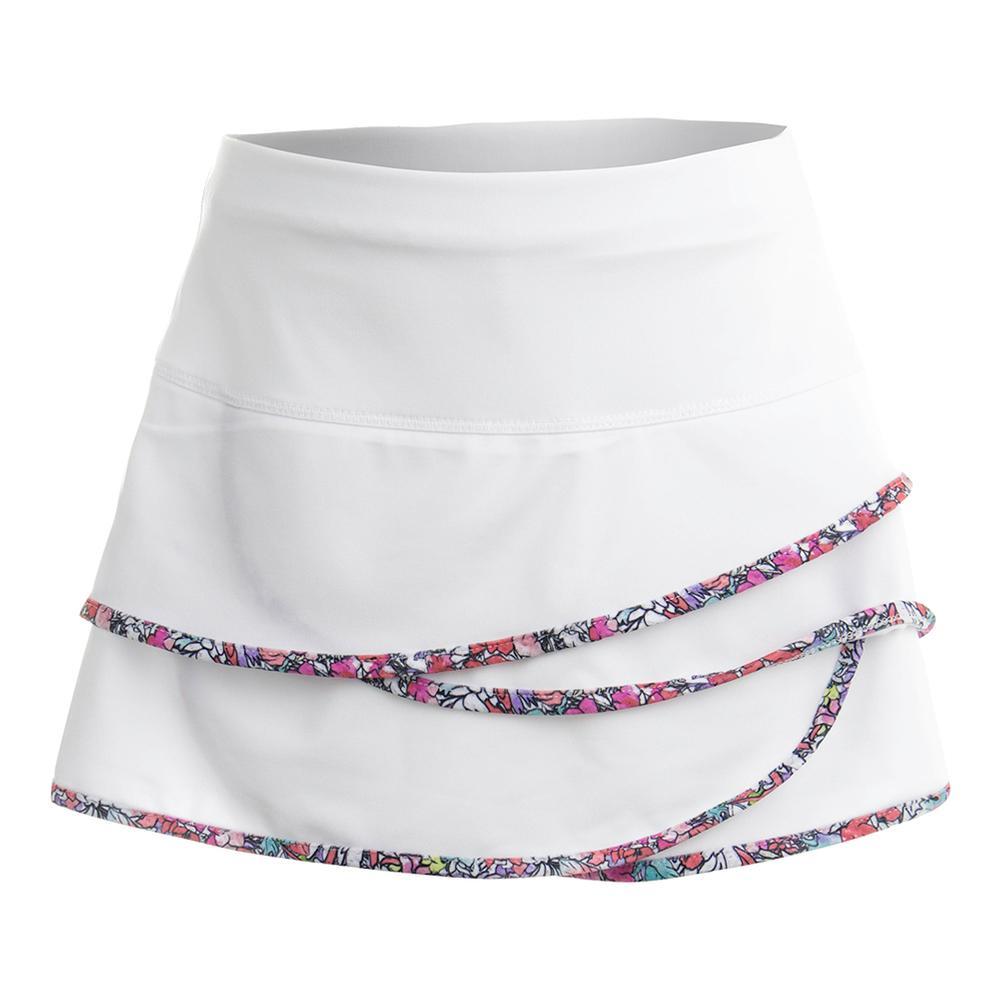 Girl's Scallop Tennis Skort White