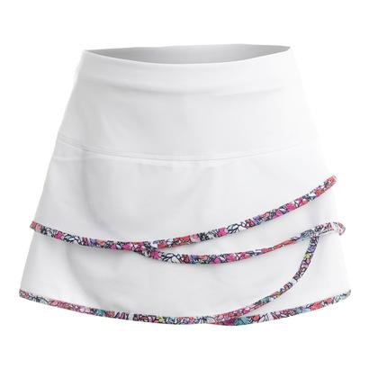 Girl's Scallop Tennis Skort White