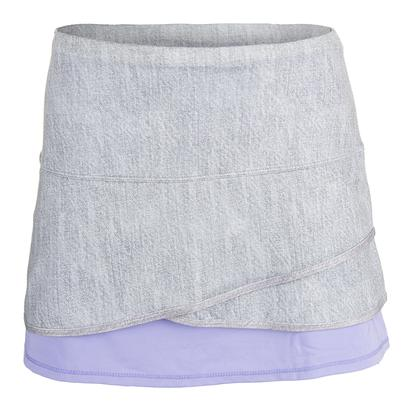 Women`s Long Scallop Tennis Skort Gray