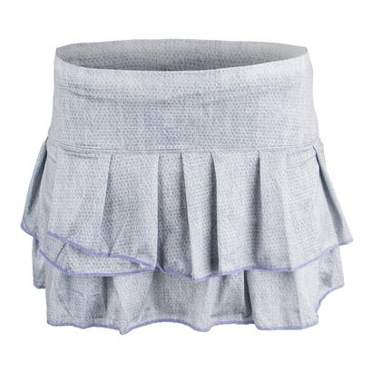 Women`s Pleat Tier Tennis Skort Gray