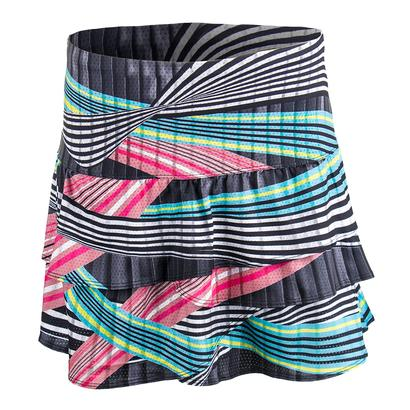 Women`s Long Raceway Rouched Scallop Tennis Skort Print