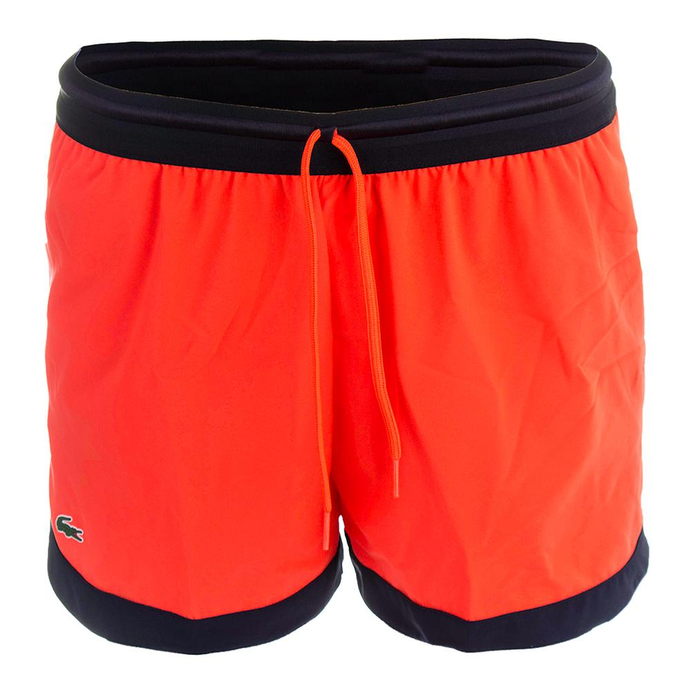 Women's Technical Drawstring Tennis Short Fluo Energy And Navy