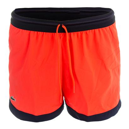 Women`s Technical Drawstring Tennis Short Fluo Energy and Navy