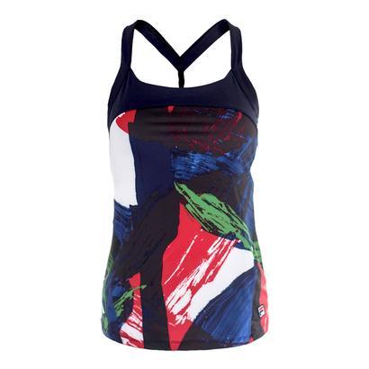 Women`s Heritage Print Twist Tennis Tank Riviera