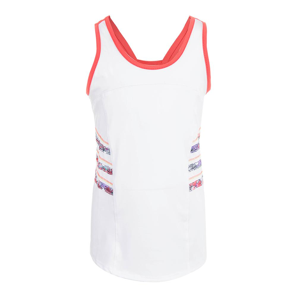 Girls ` High Neck Tennis Cami White