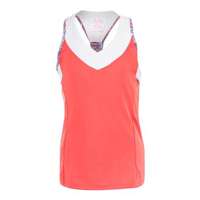 Girls` V-Neck Racerback Tennis Tank Flame