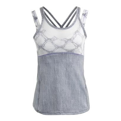 Women`s Criss-Cross Mesh Tennis Cami Gray