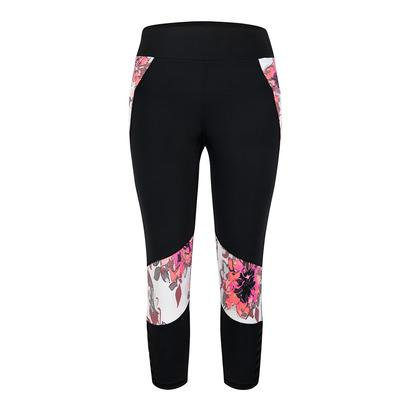 Women`s Kate Tennis Leggings Black and Dahlia