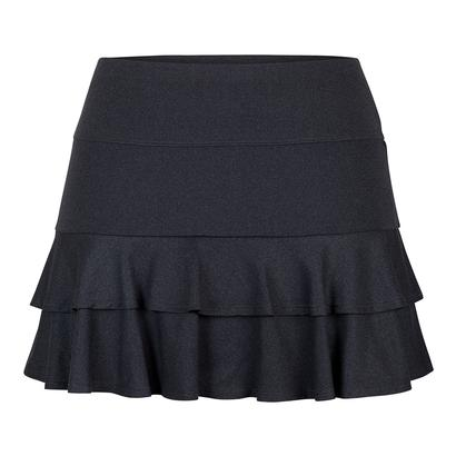 Women`s Doubles 13.5 Inch Tennis Skort Black Heather