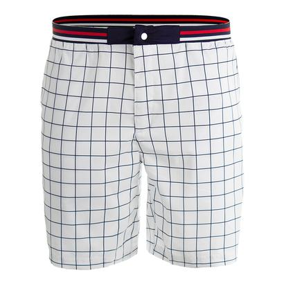 Men`s Heritage Windowpane Tennis Short White and Navy