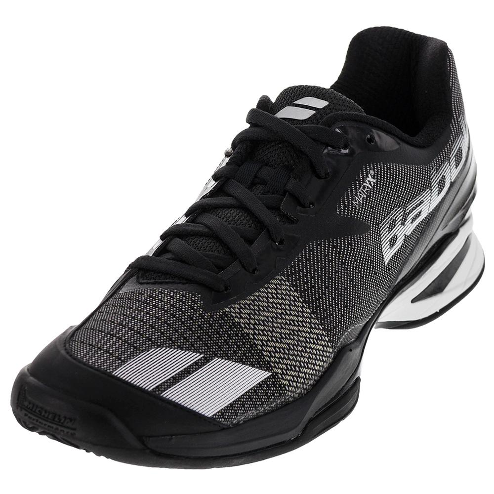 Men's Jet Clay Tennis Shoes Black And White