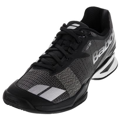 Men`s Jet Clay Tennis Shoes Black and White