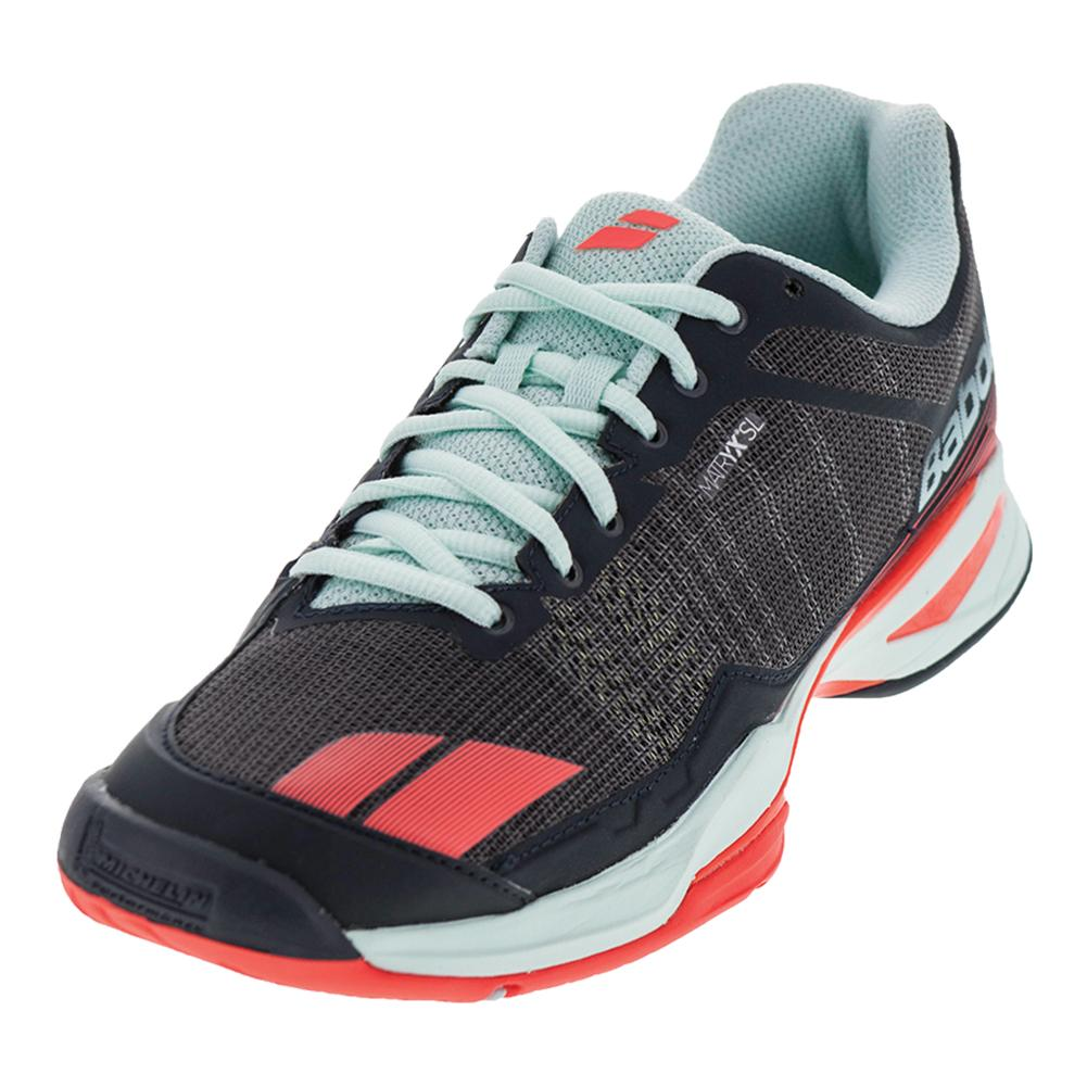 Women's Jet Team All Court Tennis Shoes Gray And Blue
