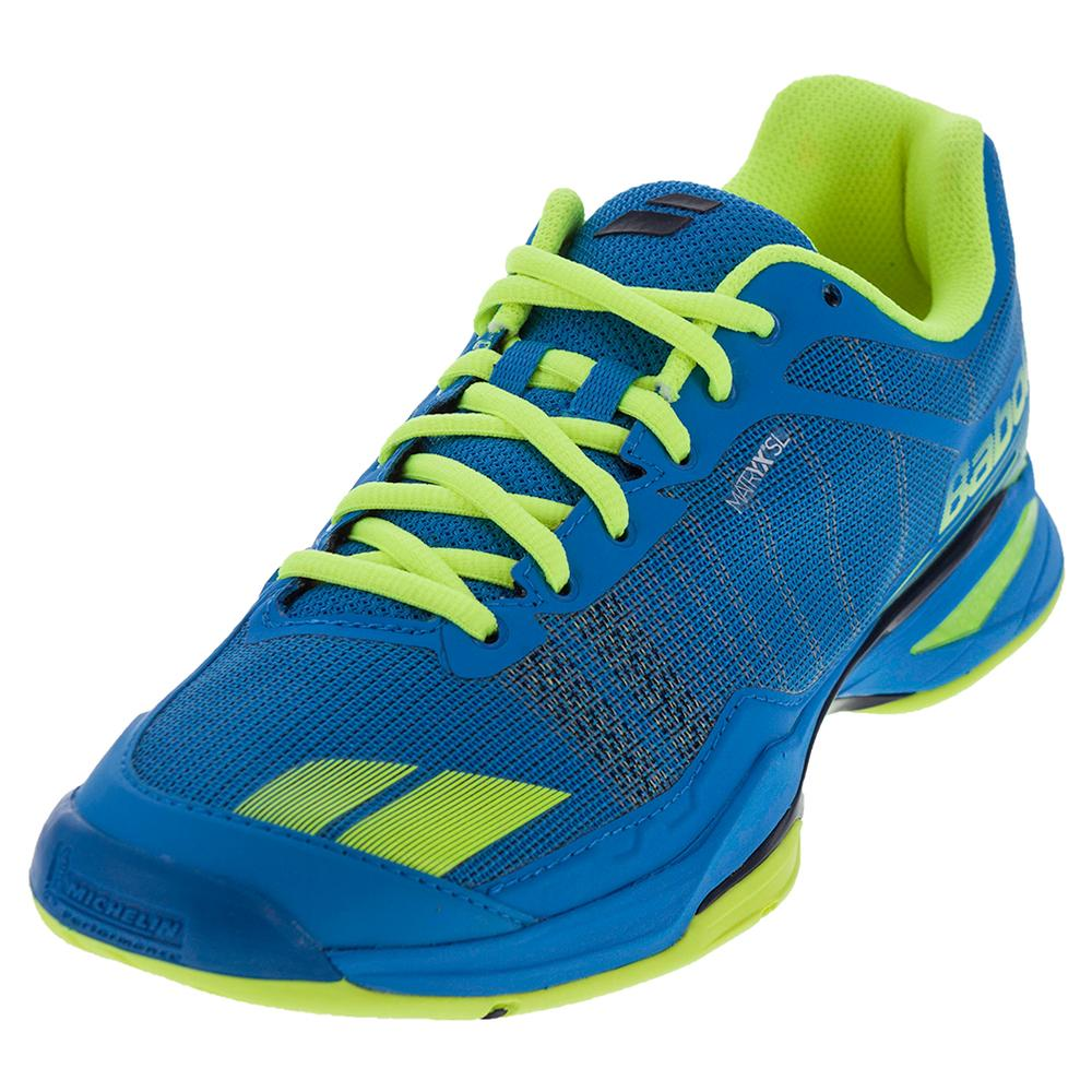 Men's Jet Team All Court Tennis Shoes Blue And Yellow