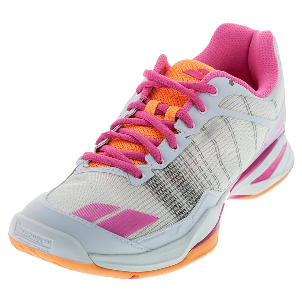 Women's Jet Team All Court Tennis Shoes White And Orange
