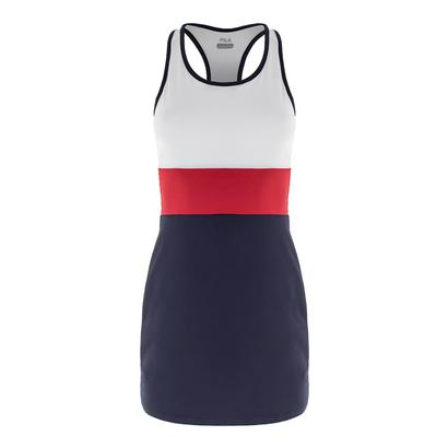 Women`s Heritage Striped Tennis Dress Navy and White