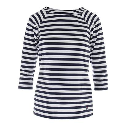 Women`s Heritage 3/4 Sleeve Tennis Top Navy and White