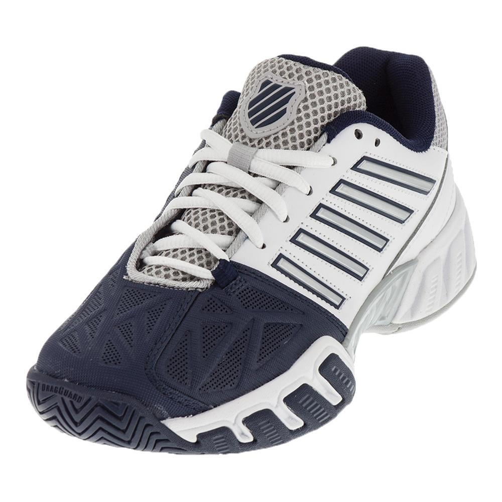 Juniors ` Bigshot Light 3 Tennis Shoes White And Navy
