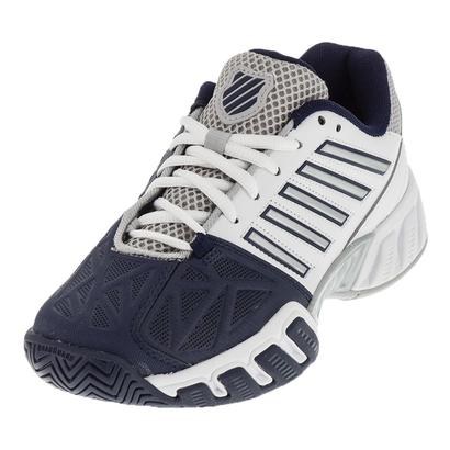 Juniors` BigShot Light 3 Tennis Shoes White and Navy