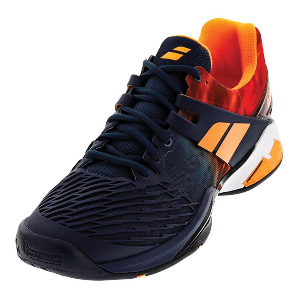 Men's Propulse Fury All Court Tennis Shoes Gray And Orange