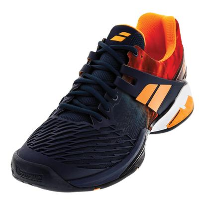 Men`s Propulse Fury All Court Tennis Shoes Gray and Orange