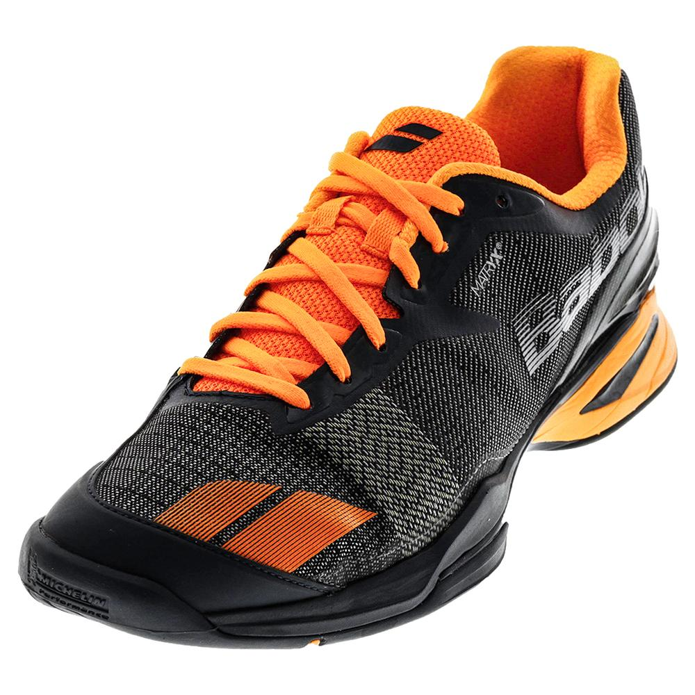 Men's Jet All Court Tennis Shoes Gray And Orange