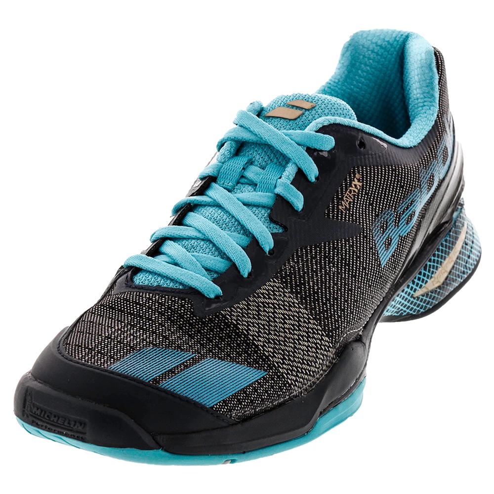 Women's Jet All Court Tennis Shoes Gray And Blue