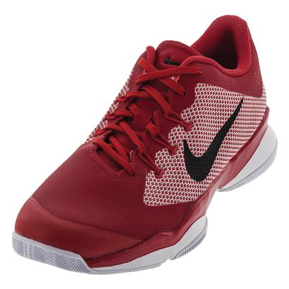 Men`s Air Zoom Ultra Tennis Shoes University Red and Black