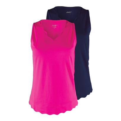 Women`s Scallop Tennis Tank