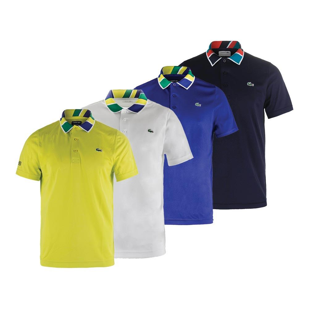 Men's T2 Jacquard Collar Ultradry Tennis Top