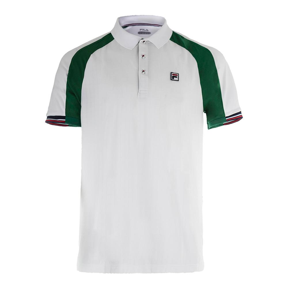 Men's Heritage Tennis Polo White And Heritage Green