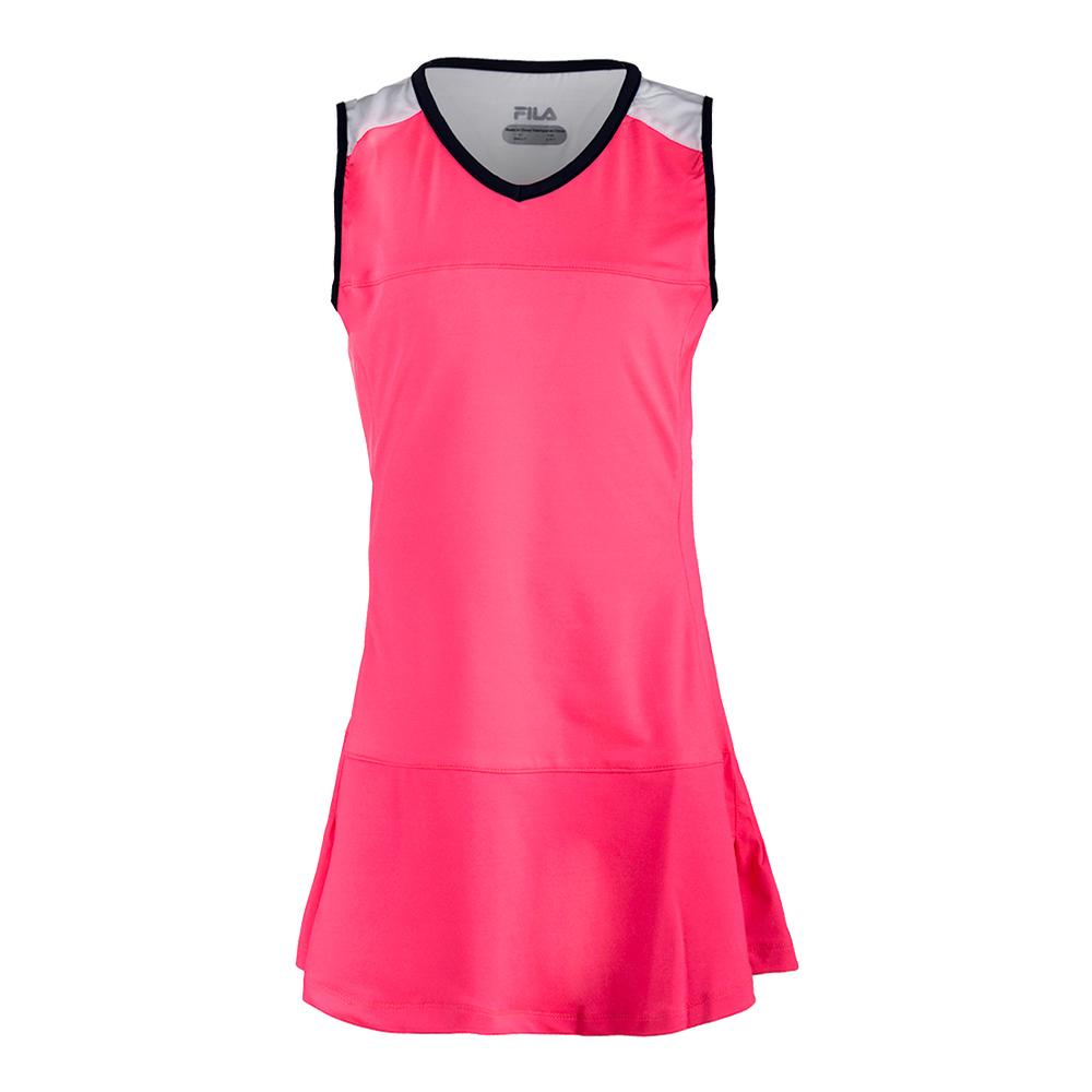 Girls ` Down The Line Tennis Dress Coral Cake