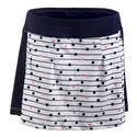 Girls` Down the Line Tennis Skort 101_DOT_PRINT