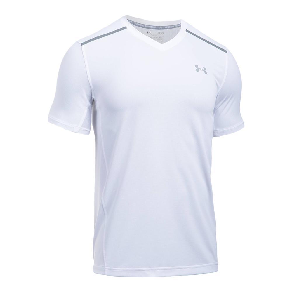 Men`s Threadborne Center Court V Tennis Top 100_WHITE/STEEL