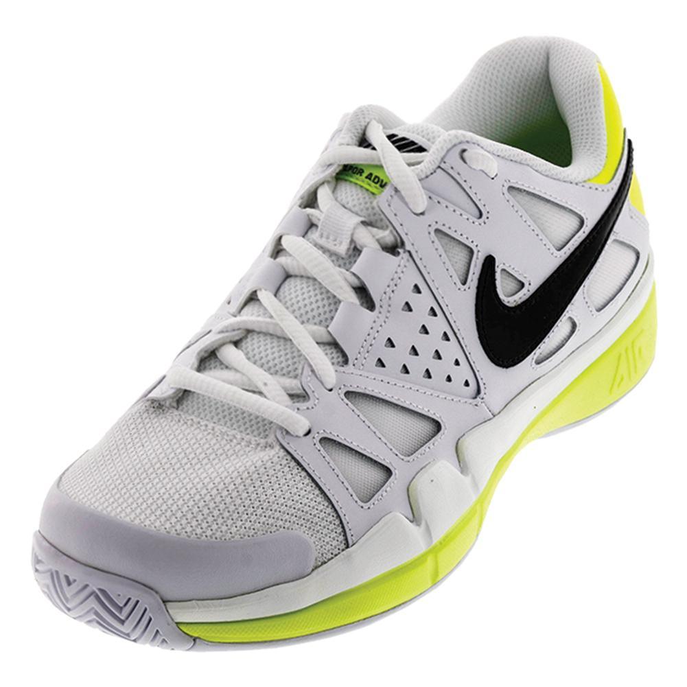 Men's Air Vapor Advantage Tennis Shoes White And Volt