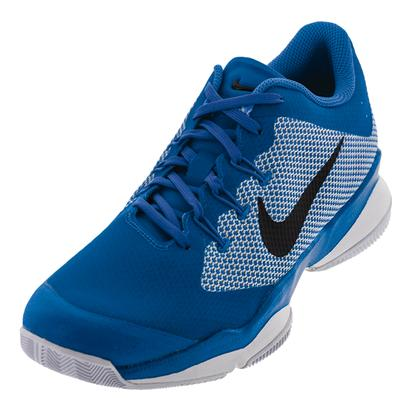 Men`s Air Zoom Ultra Tennis Shoes Light Photo Blue and Black