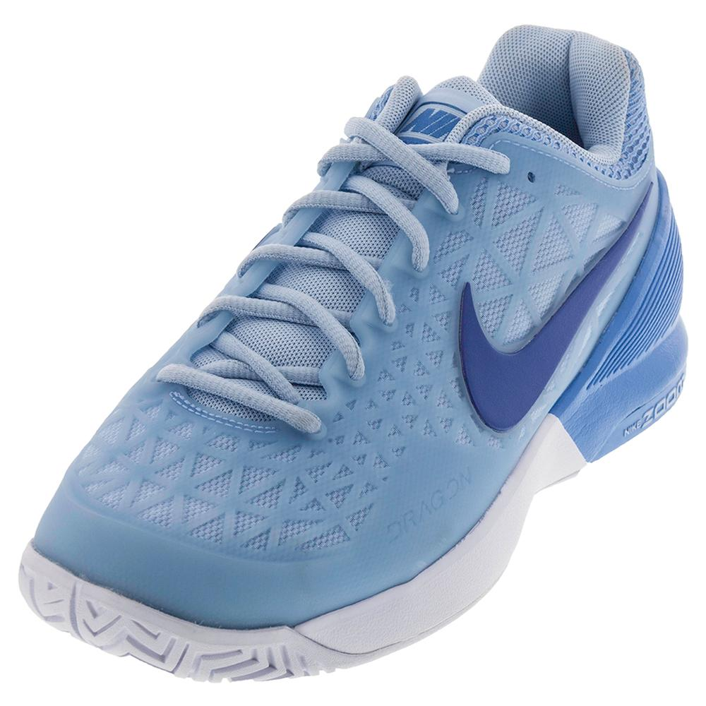 NIKE NIKE Women's Zoom Cage 2 Tennis Shoes Ice Blue And University Blue