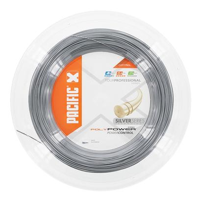 Poly Power Pro 16L Tennis String Reel Silver