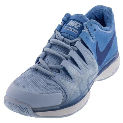 Women`s Zoom Vapor 9.5 Tour Tennis Shoes Ice Blue and University Blue