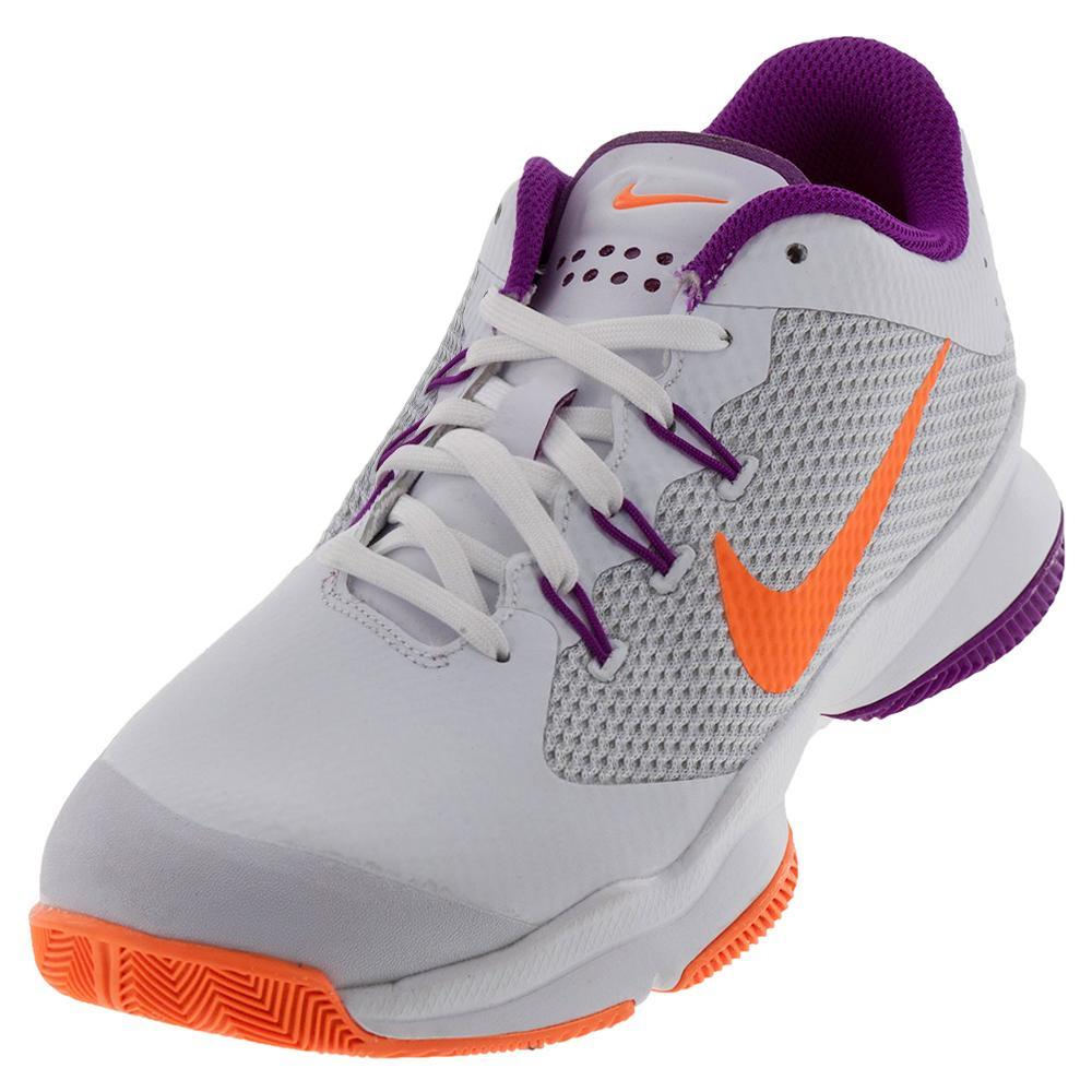 Women's Air Zoom Ultra Tennis Shoes White And Tart