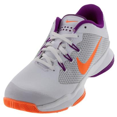 Women`s Air Zoom Ultra Tennis Shoes White and Tart