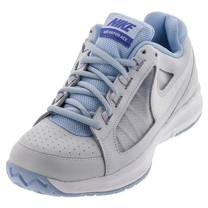 Women`s Air Vapor Ace Tennis Shoes Pure Platinum and White