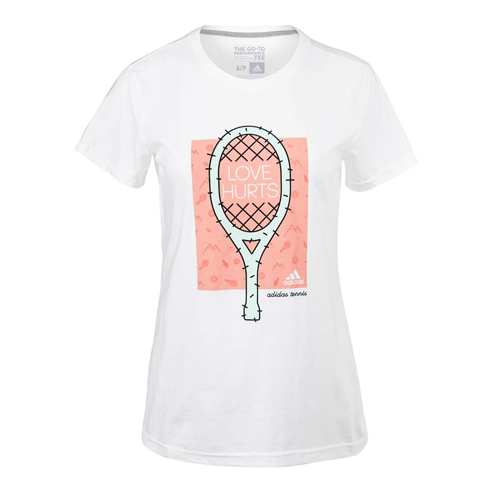 Women's Cactus Graphic Tennis Tee White