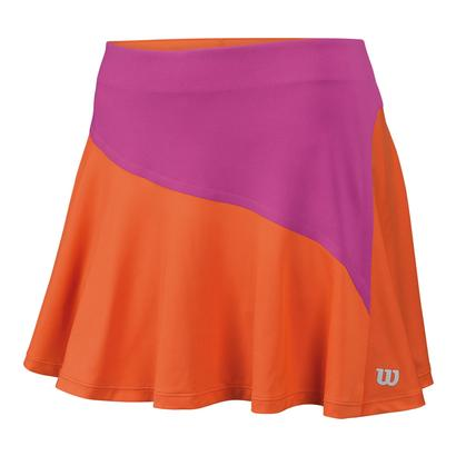 Women`s Star Bonded 13.5 Inch Tennis Skort Nasturtium and Rose Violet
